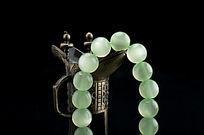 古代酒杯道具翠绿手串