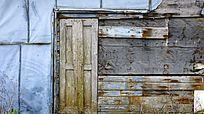 旧木屋背景墙