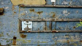 木板掉漆墙背景