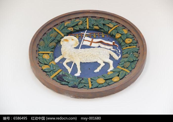 欧式雕花小羊图片,高清大图