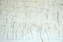 沙漠骆驼石雕像