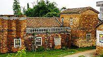 乡村红砖建筑