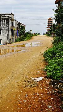 乡村建筑道路