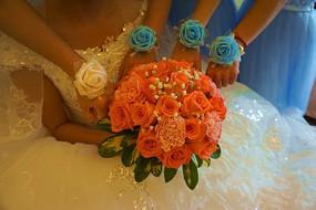 新娘手捧花和姐妹手花