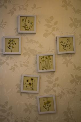 花卉相框照片墙装饰