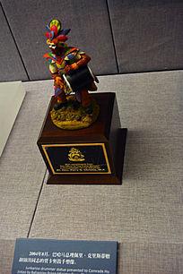 贾卡努鼓手塑像