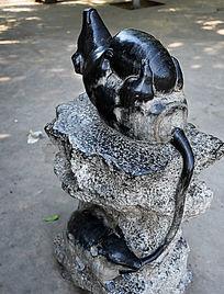 石雕生肖鼠