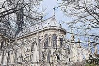 巴黎圣母院的哥特式大教堂