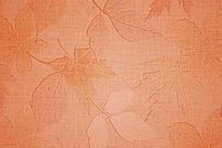枫叶图案橙色背景