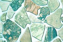 兰绿色不规则几何石纹理背景