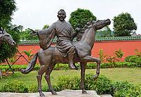 骑马人物雕刻
