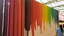 上海面辅料展会色彩展板展示