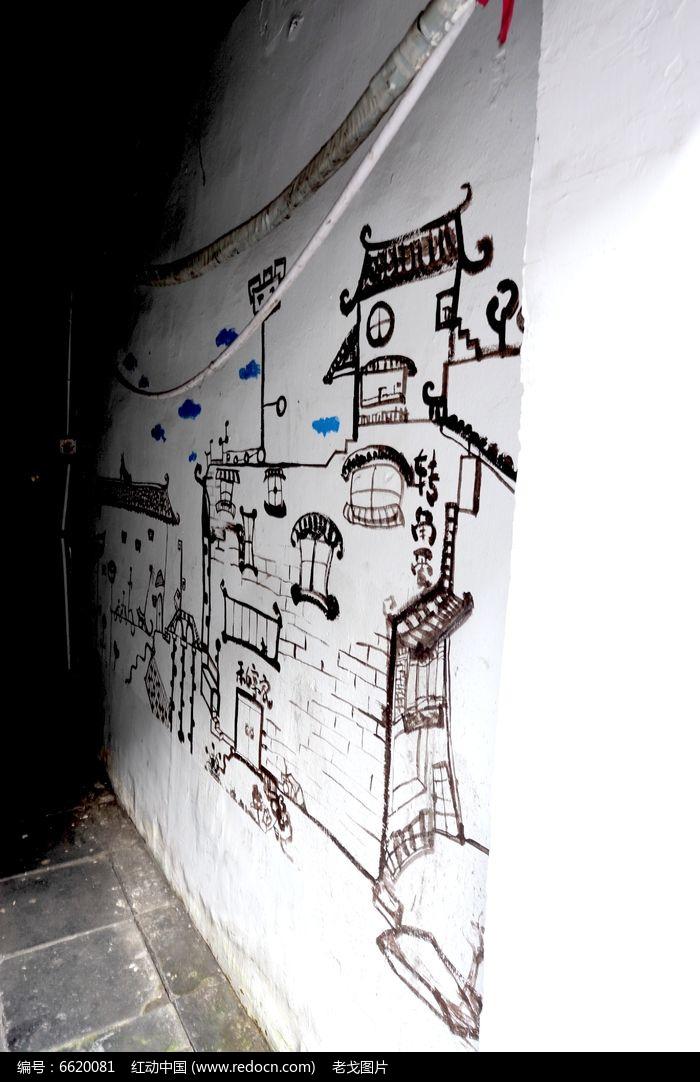 欧式楼梯道壁画