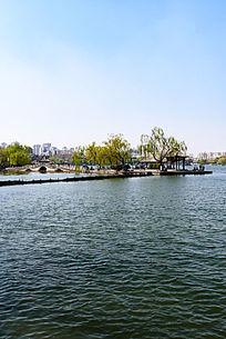 大明湖公园翠柳屏岛