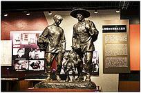 东北抗日时期逃亡雕塑