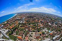高空拍摄城市