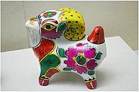 清代五彩民间艺术羊