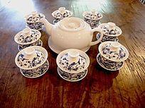 中式青花茶具