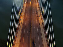 百色市东合桥局部航拍图