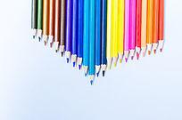 彩色木头铅笔