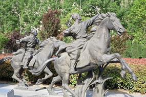狩猎的杜甫-杜甫塑像