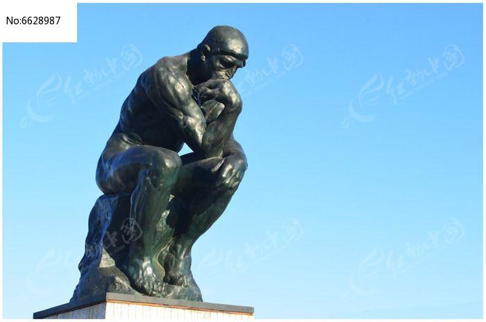 思想者人物雕塑图片