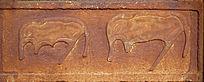 蒙古族风格动物雕刻图案