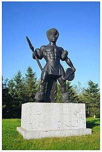 勇士人物雕塑