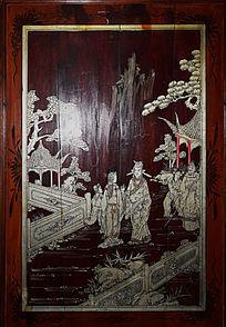 古典人物绘画-木版画