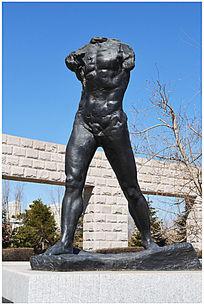 拉布拉多人物雕塑