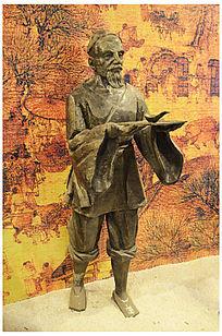 指南针发明人物雕塑