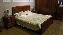 中式实木床