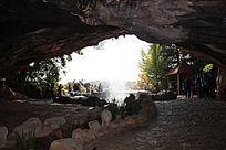 阿庐古洞入口的风景