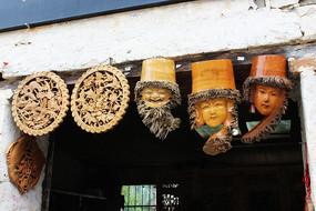 徽州民间传统手工雕刻艺术照片