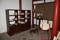 简洁木书架-古典木家具