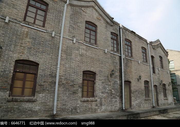 民国时期风格的老楼背景图片