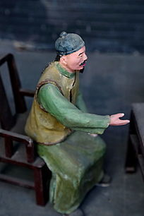 泥塑古代二锅头酿酒师傅