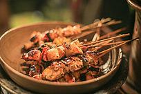 烧烤肉串摄影图