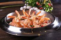 干锅凤尾虾