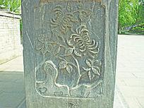 花纹花朵雕刻-石雕