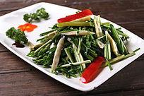 韭菜螺丝椒炒野竹笋