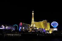 美国城市之夜贝拉吉奥大酒店