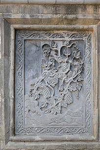 葡萄树雕刻-石雕