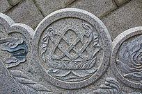 千山弥勒宝塔石阶围栏莲花绳结雕刻