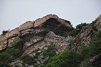 山顶的岩石-山川自然风景