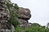 山顶怪石-山川自然风景