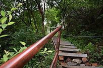 山崖间的小路-山川自然风景