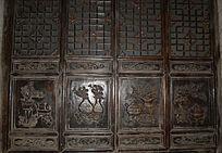 四联门板雕刻-木雕艺术