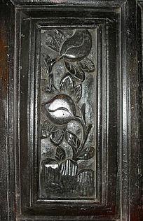 桃形花纹-花朵图案木雕