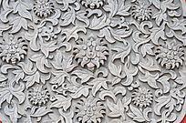 壁雕缠枝花朵图案